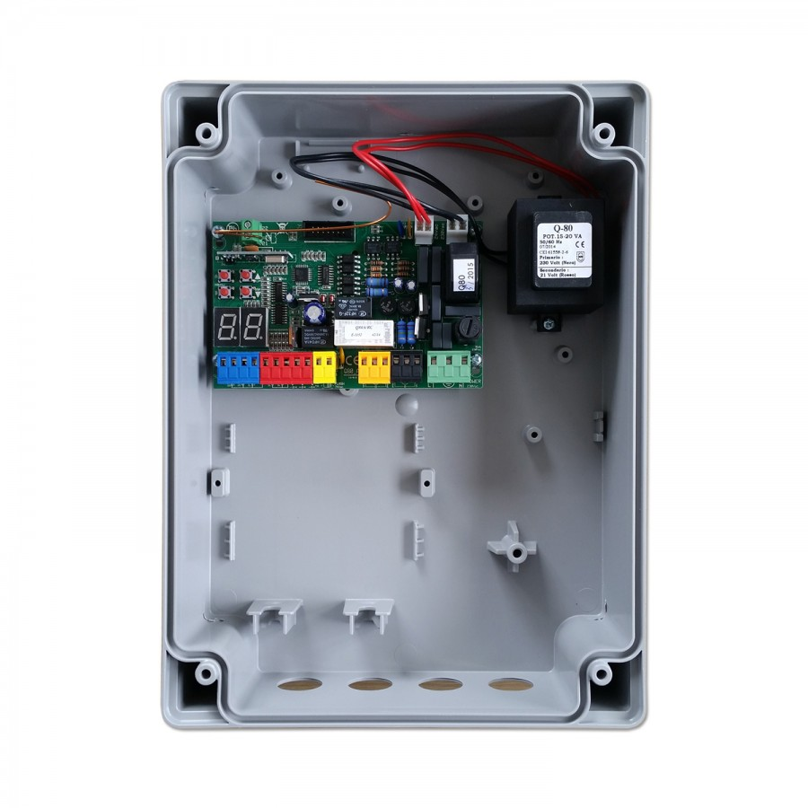 Proteco Q80a Swing Gate Control Unit 230v Direct Wiring Diagram Board Pcb Transformer In Housing