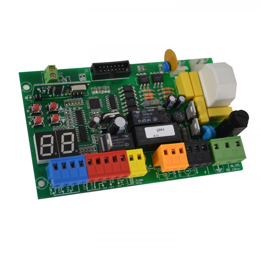Proteco Ace Double Swing Gate Automation Kit 230v Direct Electric Motor Wiring Diagram Proeco Q80a Control Board
